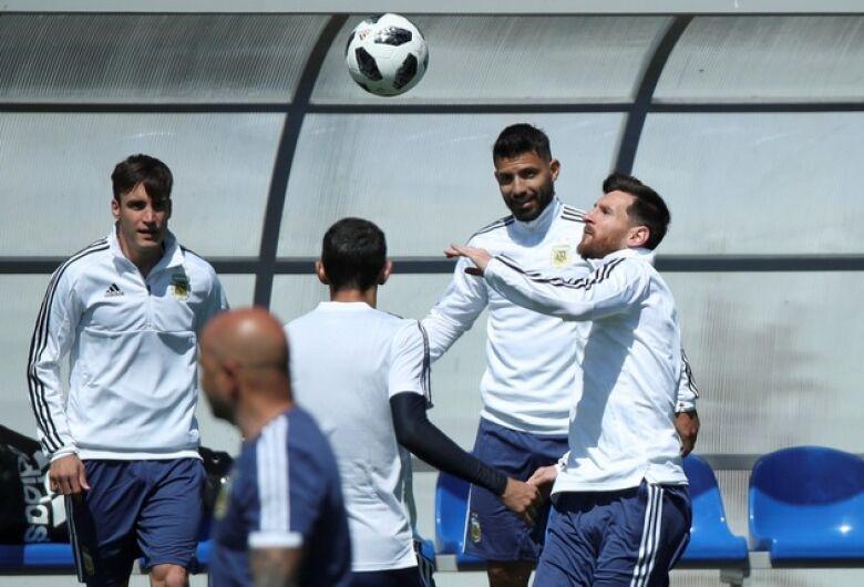 Argentina faz último treino antes da estréia em Bronnitsy
