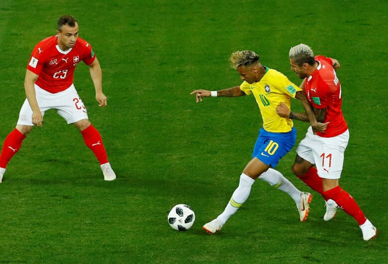 Brasil empata por 1 x 1 com Suíça e tropeça em estreia na Copa