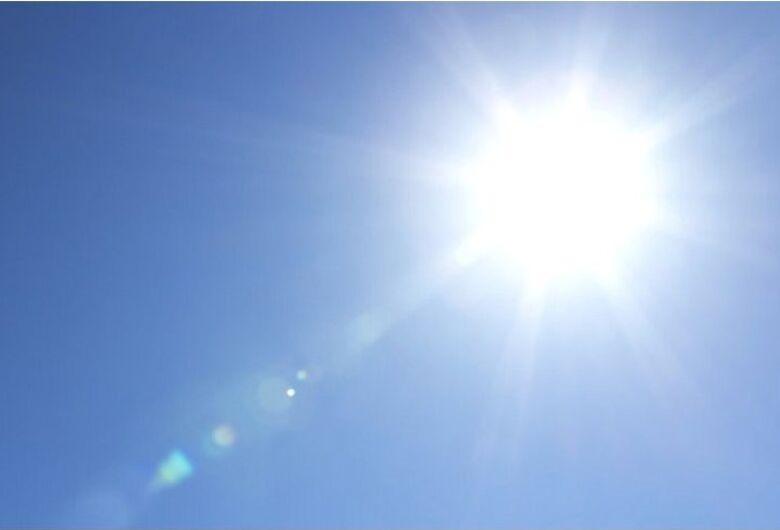 Segunda-feira de sol com baixa umidade relativa do ar