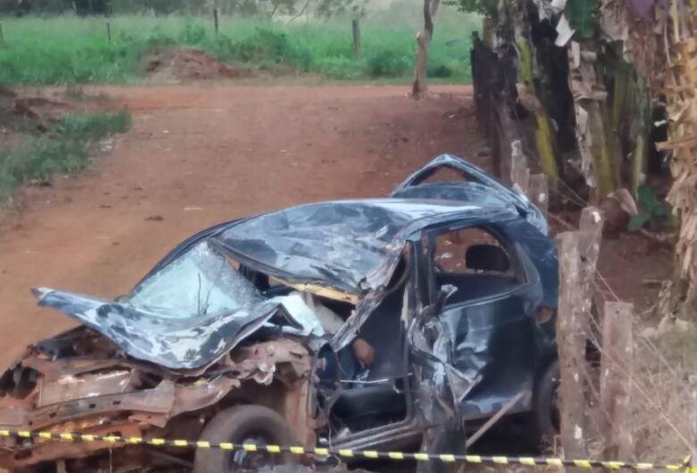 Acidente com vítima fatal na estrada entre Fátima do Sul e Vicentina