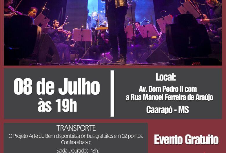 Caarapó recebe o projeto Arte do Bem com a Orquestra Rock