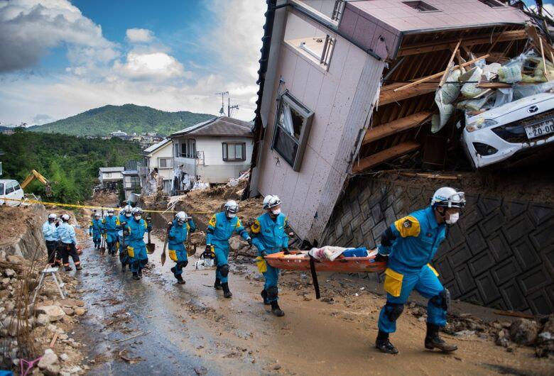Fortes chuvas já mataram 157 pessoas no Japão