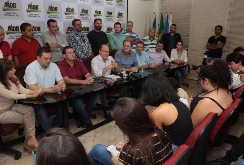 MDB reafirma candidatura de André Puccinelli, preso nesta sexta