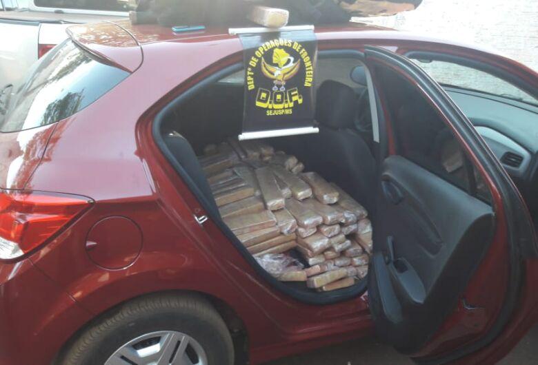 Veículo com droga é apreendido pelo DOF em Ponta Porã