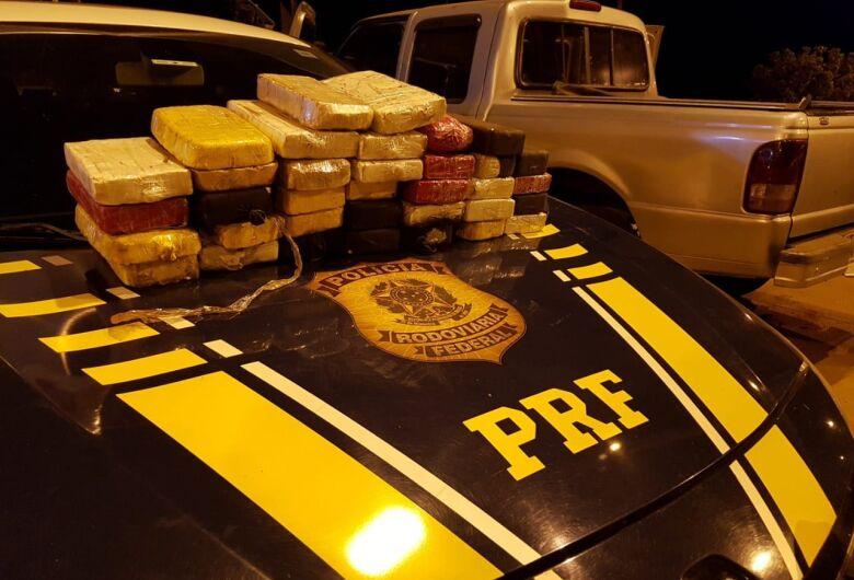 PRF apreende 34 kg de cloridrato de cocaína na BR-262