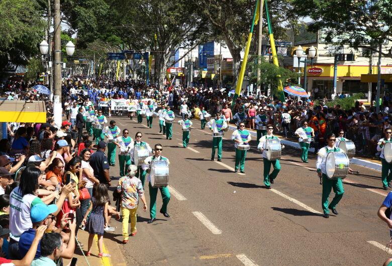 Instituições de ensino têm até 4ª feira para se inscrever no desfile cívico