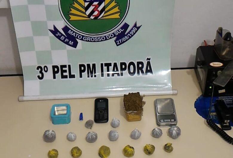 Polícia de Itaporã prende quatro pessoas por tráfico de drogas
