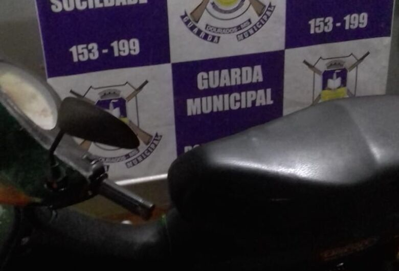 Guarda Municipal recupera moto roubada
