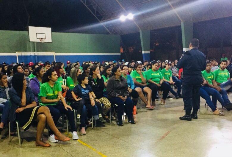 """Projeto """"Diga Não ao Crime"""" leva palestra preventiva a 1.750 alunos em Dourados"""