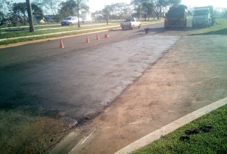 Prefeitura de Dourados prossegue com ações de tapa-buraco em várias regiões da cidade