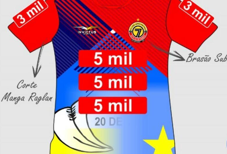 Sete divulga camisas que irá usar na Copinha com detalhes das bandeiras de MS e Dourados