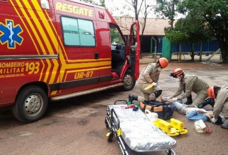 Bombeiros atendem 7 ocorrências de acidentes de trânsito em intervalo de 11 horas em Dourados
