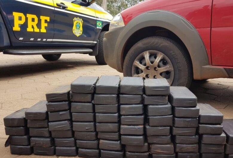 PRF apreende 68 quilos de cocaína na rodovia BR-267