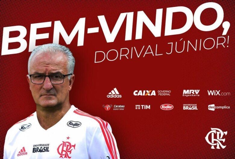 Flamengo confirmou Dorival Junior como novo treinador depois de demitir Barbieri