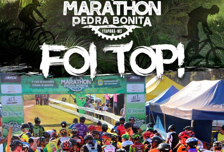 Mais de 300 ciclistas participaram do 1º Marathon Pedra Bonita, em Itaporã