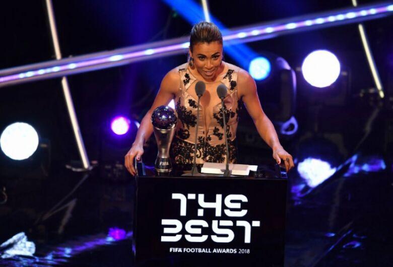 É hexa! Marta é eleita melhor jogadora do mundo no The Best