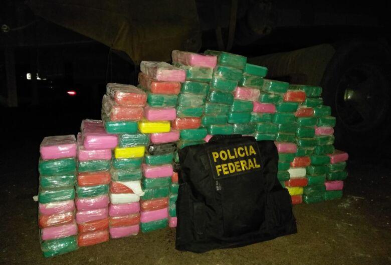 PF em Dourados apreende 158 quilos de cocaína em carreta de Rondonópolis que seguia para SP