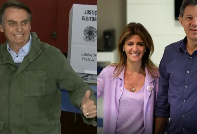 De colete à prova de balas, Bolsonaro votou na Zona Oeste do RJ; Haddad, na Zona Sul de SP