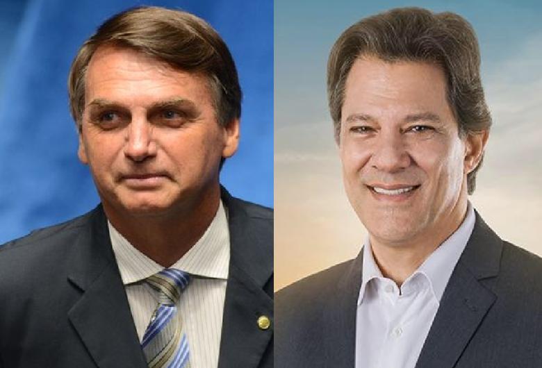 Bolsonaro tem 57% dos votos válidos e Haddad aparece com 43%, diz Ibope