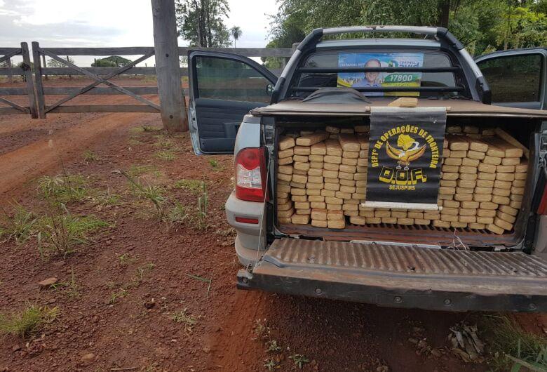 DOF recupera veículo furtado carregado com mais de meia tonelada de droga