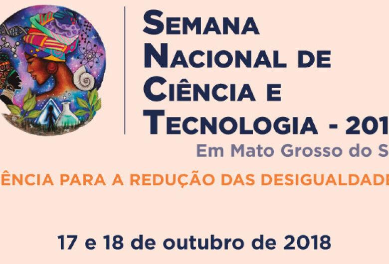 Semana da Ciência e Tecnologia acontece até dia 19 em MS