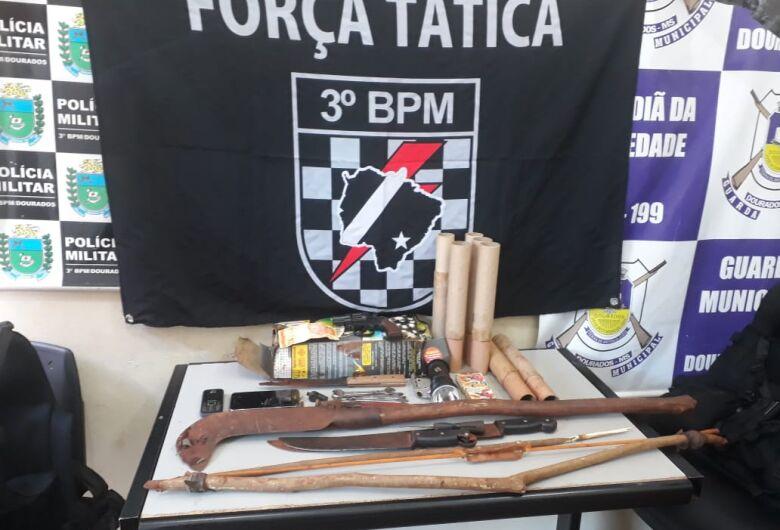 PM prende grupo que fez reféns e roubou empresa nas proximidades da aldeia em Dourados