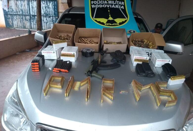 Polícia Militar Rodoviária prende mulher com armas e munições em carro