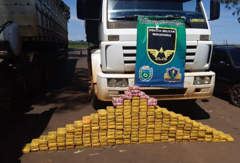 Operação Finados: PMR apreende carga avaliada em 2,5 milhões de reais em pasta base e cocaína