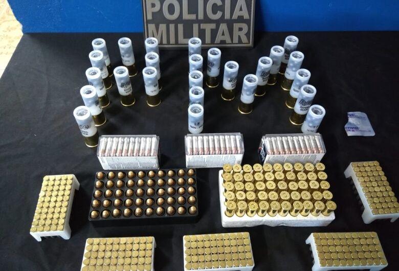 PM de Caarapó apreende homem por tráfico de munições