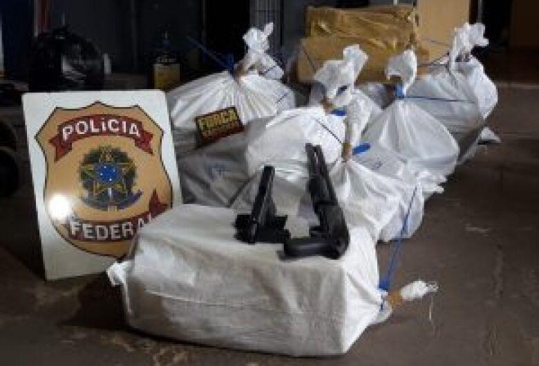 PF desmonta laboratório e apreende 700 kg de droga em Ponta Porã