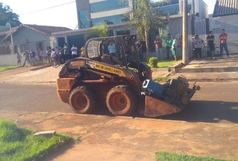 Trabalhador morre atropelado por minicarregadeira em Dourados