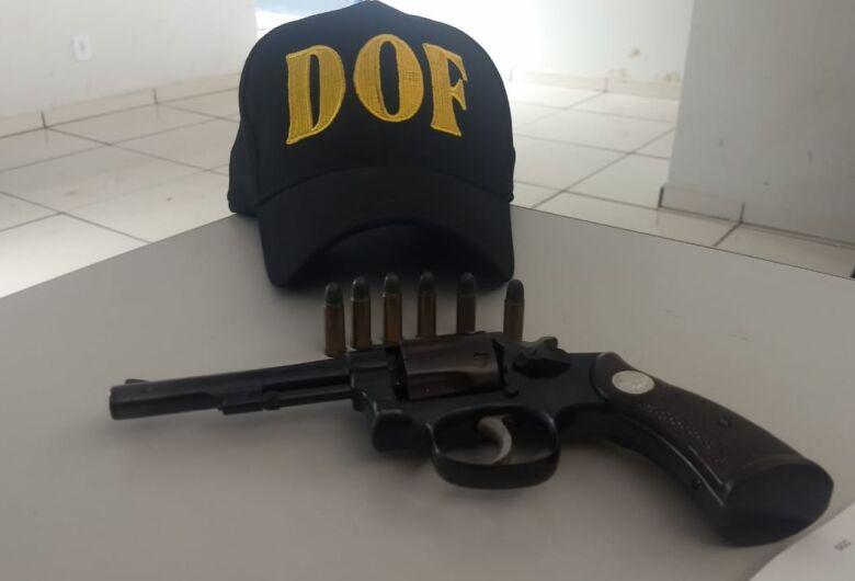 DOF apreende armas de fogo e munições em Maracaju