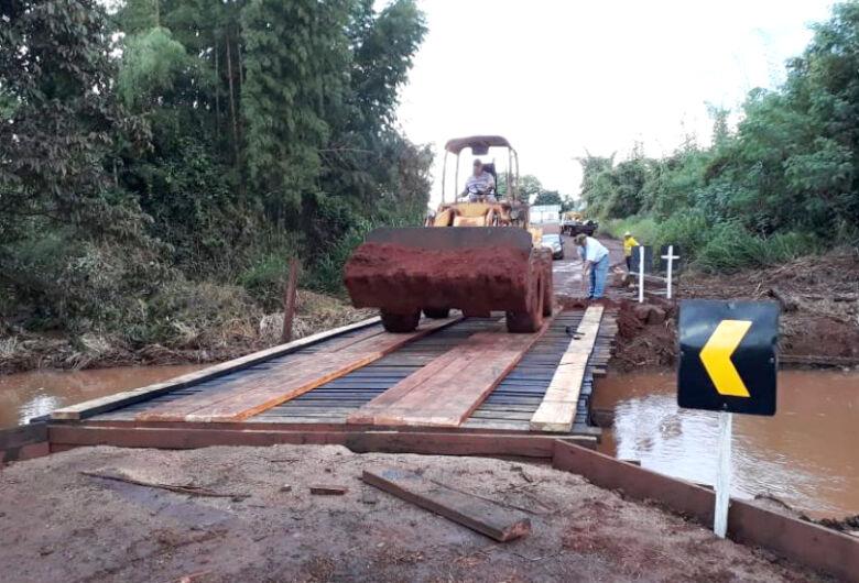 Ponte sobre o Córrego Sardinha na MS-270 é recuperada em Itaporã