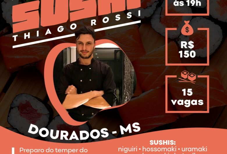Workshop de Sushi com chef Thiago Rossi