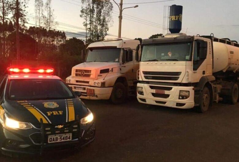 PRF apreende 75 mil litros de solvente contrabandeado do Paraguai