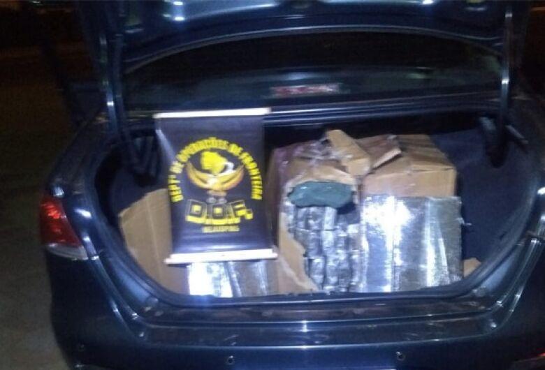 DOF apreende veículo com quase 100 kg de drogas a caminho de SP