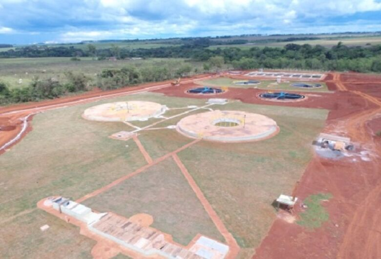 Obras avançam e Sanesul anuncia pré-operação da nova estação de Tratamento de Esgoto para junho