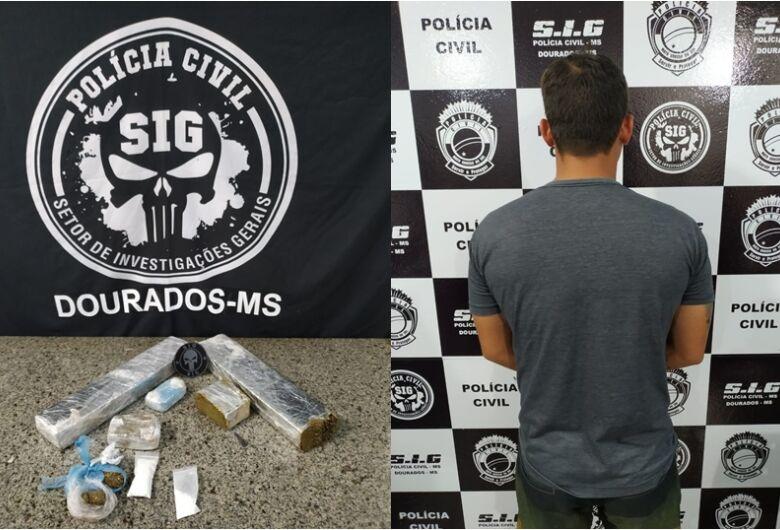 Polícia encontra droga escondida em sofá de lava-rápido em Dourados