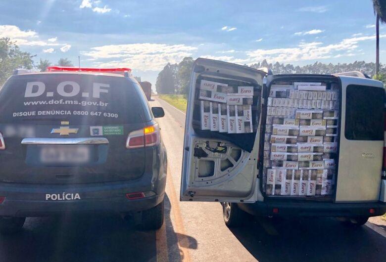DOF encontra mais de 2 mil pacotes de cigarros em veículos