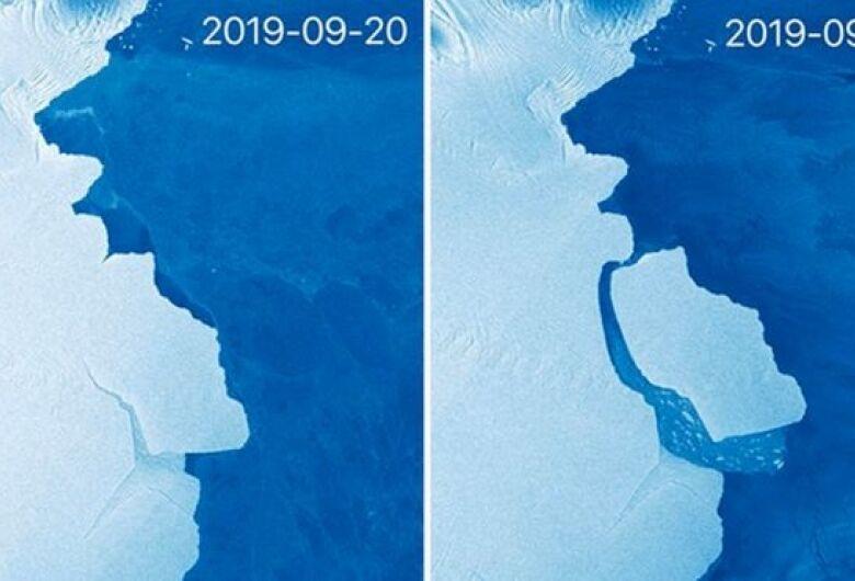 Maior iceberg em 50 anos se desprende da Antártica