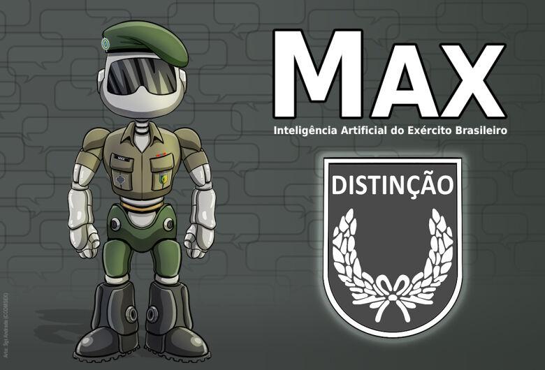 Max, a inteligência artificial do Exército, recebe medalha e novo avatar