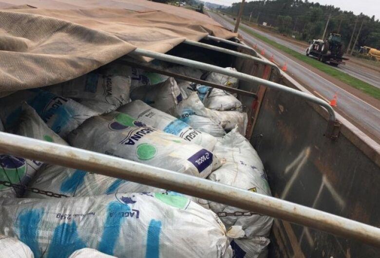 PRF apreende em Dourados 4 toneladas de agrotóxico de origem chinesa