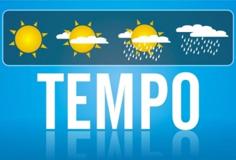 Tempo parcialmente nublado e temperaturas em elevação em Dourados