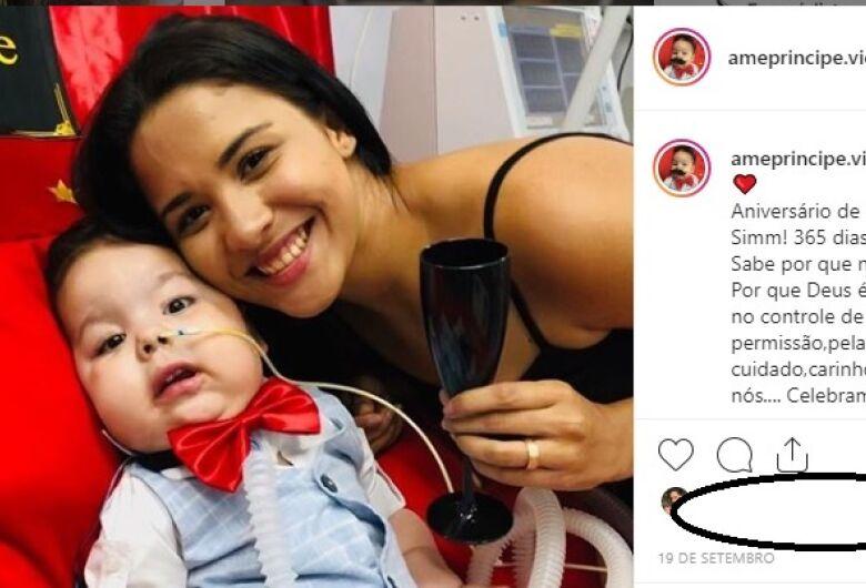 Douradense pede doações em redes sociais para salvar filho de 1 ano com AME