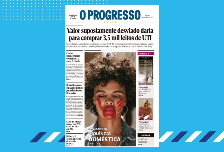 Edição nº 13.603 do jornal O Progresso destaca suposto desvio na Funsaud