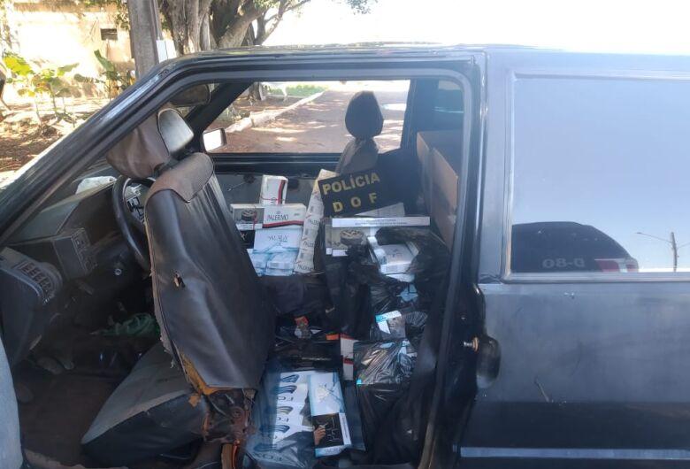 DOF apreende veículo de Dourados com 900 pacotes de cigarro vindos do Paraguai