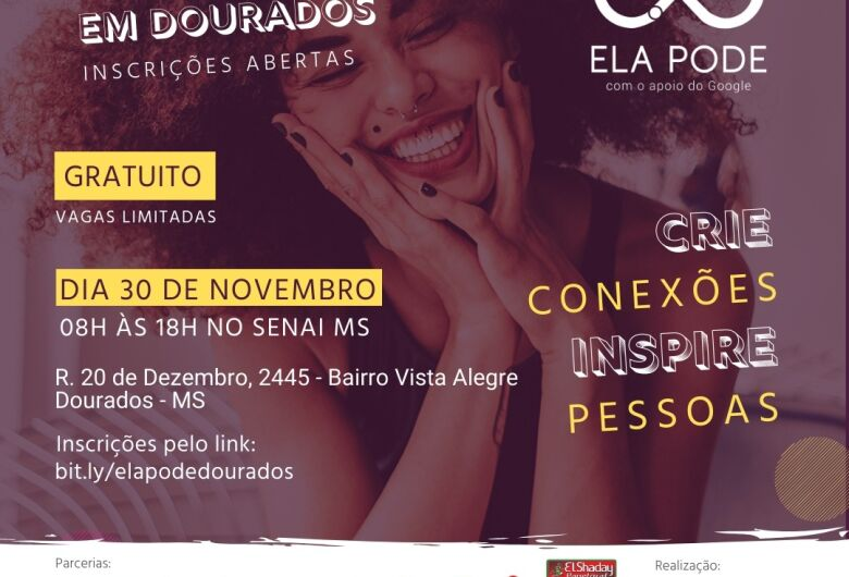 Capacitação gratuita para mulheres acontece este mês em Dourados