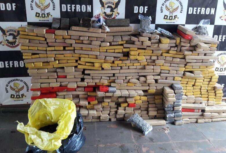 DOF recupera veículo roubado carregado com mais de 600 kg de maconha em Dourados