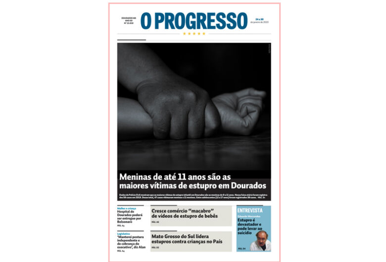 Abuso sexual infantil é tema destaque desta semana do jornal O PROGRESSO