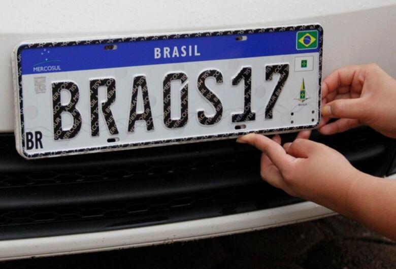Detran-MS adota a partir de fevereiro placa veicular do Mercosul